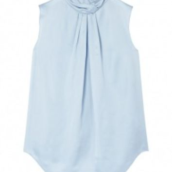 Light Blue Technical Satin Top by Carven