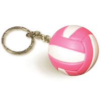 $5 - $8.99 | Pink and White Volleyball Keychain