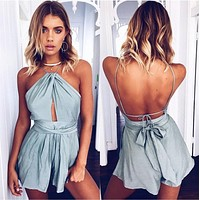 Sexy Boho Backless Summer Romper