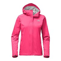 Women's Venture 2 Jacket in Honeysuckle Pink by The North Face