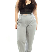 Vintage 80's Cold-Hearted Grey Trousers - XL