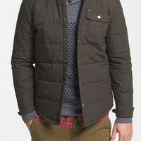Men's Brixton 'Cass' Quilted Shirt Jacket with Corduroy Collar