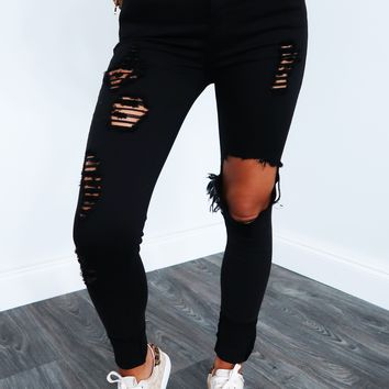 Something New To Love Jeans: Black