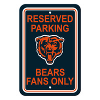 Chicago Bears Plastic Parking Sign - Reserved Parking