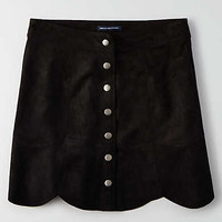AEO Snap Front Mini Skirt, Black
