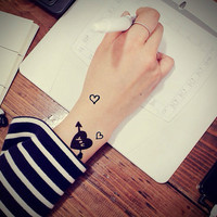 3pcs LOVE Arrow tattoo set - InknArt Temporary Tattoo -  gift pack tattoo collection quote wrist neck ankle body