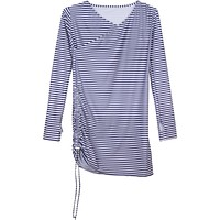 "Women's Sophisticated Swim Dress Cover Up - Navy Stripe ""Stunner"""