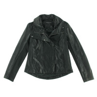 Dawn Levy Womens Leather Lined Motorcycle Jacket
