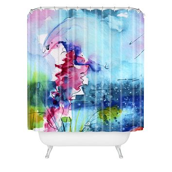 Ginette Fine Art I Love Jellyfish Shower Curtain
