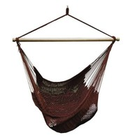 ALGOMA 4913B Hanging Polyester Rope Chair, Burgundy