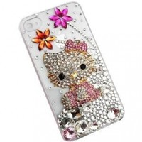 Hello Kitty 3D Crystal Case Cover for Iphone 4 & 4s