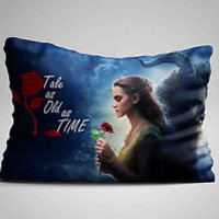 """Hot Best Beauty and The Beast Quote Design Pillow Case 16""""x24"""" Limited Edition"""
