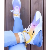 Bunchsun Nike Air Max 270 Fashion Woman Men Casual Air Cushion Sport Running Sneakers Shoes