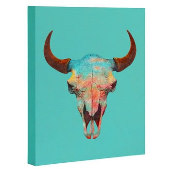 Terry Fan Turquoise Sky Art Canvas