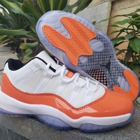 "Air Jordan 11 Retro Low ""White/Orange"""