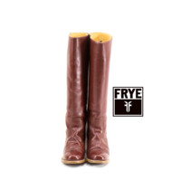 FRYE Boots Size 7 Campus Tall Brick Burgundy Knee High 1970s Boots Womens Size 7