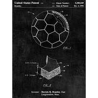 Soccer Ball Layers Patent Poster - Patent Poster - Office Art - Soccer Wall Art