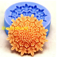A304 Silicone Mold Chrysanthemum Cabochon 1 Cavities Flexible Mould for Polymer Clay Resin Candy Fimo Super Sculpey Crafts Jewelry