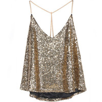 Sexy Women Vest Tank Crop Tops Blouse Shirts Sequin Bodycon Party Top Clubwear Hot