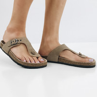 The Tabby Sandal -Taupe