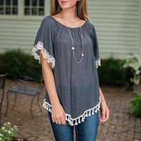 Rhythm Of The Night Top, Gray