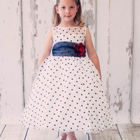 Lovely Organza Polka-dot Flower Girl Dress