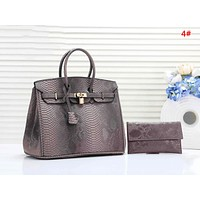 Hermes New fashion texture leather shoulder bag handbag two piece suit bag 4#