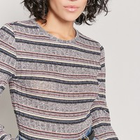 Marled Striped Top