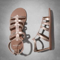 faux leather gladiator sandals