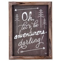 Brown & White Let's Be Adventurers Framed Wall Art | Shop Hobby Lobby