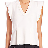 Rebecca Taylor - Ruffled Cap-Sleeve Top - Saks Fifth Avenue Mobile