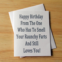 Birthday Card, Boyfriend Gift, Card For Him, Birthday Boyfriend, Fart Card, Naughty Card, Funny Card, Husband Birthday, Girlfriend Birthday