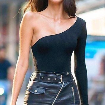 Riley One Shoulder Bodysuit
