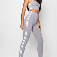 Side Stripe Square Neck Knitted Set | Boohoo