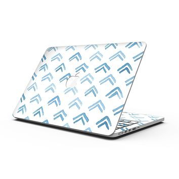 The Blue Upwards Arrow Pattern - MacBook Pro with Retina Display Full-Coverage Skin Kit