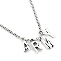 New Fashion KPOP BTS Jimin Necklace Bangtan Boys ARMY A.R.M.Y Pendant KOOK JIMIN V SUGA Charms Jewelry Best Gift