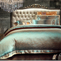 PRINCESS 4-Piece Luxury Bedding Duvet Cover Set - Ocean Gold (King, Queen)