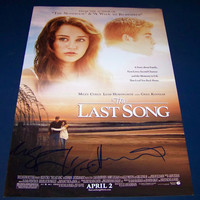 "Miley Cyrus/Hemsworth Autographed 12x18""The Last Song"""