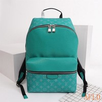 HCXX 19Aug 654 Louis Vuitton LV M33450 Apollo Taiga Leather Fashion Print Backpack 40-37-20cm