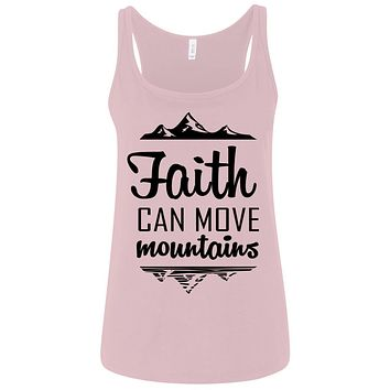 "Christian Clothing - ""Faith Can Move Mountains"" Tank Tops"