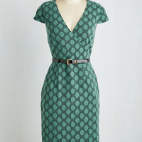 Long Cap Sleeves Sheath Peace and Client Dress in Dots