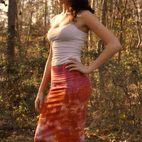 Made To Order Boho Style Tie Dyed Mini Skirts Pencil by SewRed