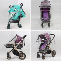 New Universal Baby Canopy Waterproof Rain Cover Wind Shield Most Stroller Pushchairs X16