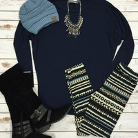Long Sleeve Dolman: Navy