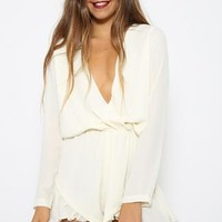 Velocity Playsuit - Cream