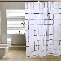 PHFU Modern Bathroom Shower Curtains Bathroom Bath Shower Curtain bathroom products Bathroom Curtains