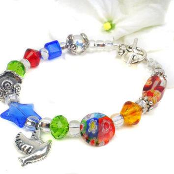 Niece Bracelet, Gift Idea For Niece, Colorful Beaded A15