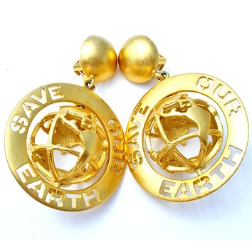 D. Torem Renclif Earrings 'Save Our Earth'