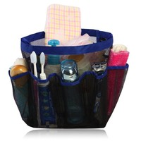 miQQi Living Large Pockets Shower Caddy for Bathroom Accessories & Mirror - Standard Packaging - Blue