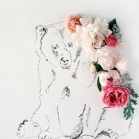 Bear and Flower Photograph No. 88224